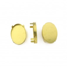 3002CS oval Stones metal claw Settings