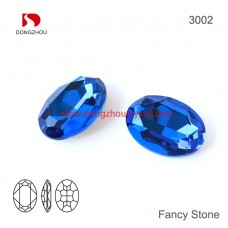 DZ 3002 18x13 mm Oval Crystal   Stone
