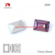 DZ 3006 rectangle shape crystal fancy stone