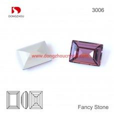DZ 3006 rectangle shape crystal fancy stone