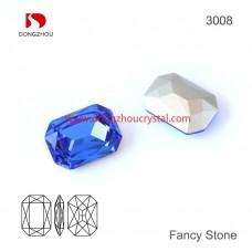 DZ 3008 14x10 mm  Octagon shape crystal fancy stone