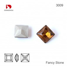 DZ 3009 12x12 mm square shape crystal fancy stone