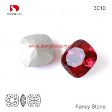 DZ 3010 12x12 mm  square shape crystal fancy stone
