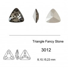 DZ 3012 12x12 mm Triangle shape crystal fancy stone