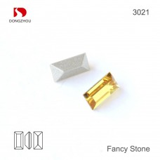 DZ 3021 rectangle shape crystal fancy stone