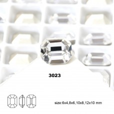 DZ 3023 12x10 mm octagon shape crystal fancy stone