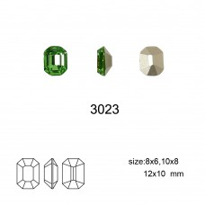 DZ 3023 10x8 mm octagon shape crystal fancy stone