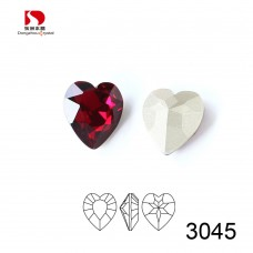 DZ 3045 15.5 x14 mm Heart fancy Rhinestone
