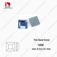 DZ-1008 square flat back fancy crystal stone for jewelry making