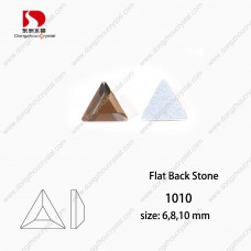 DZ 1010 triangle  flat back non - hotfix  glass stones