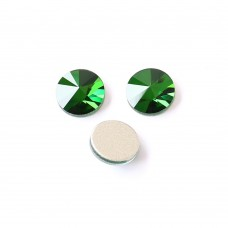 DZ 1041    round  flat back   glass stones