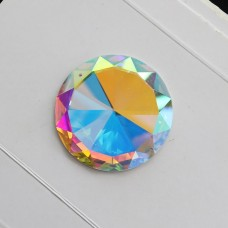 round crystal AB with two holes rhinestones 20mm