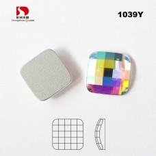 DZ-1039   Square Flat Back Glass stone
