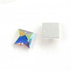 DZ 1072 square shape crystal flat back stone