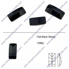 DZ 1296Y square shape flat back crystal stone