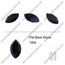DZ 1004  navette shape flat back stone