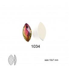 DZ 1034 Marquise Shape crystal flat  back stone