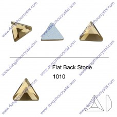 DZ 1010 triangle shape crystal flat back stone