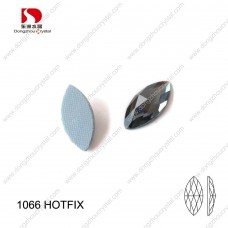 DZ-1066HF horse eye shape crystal hotfix rhinestones for clothes