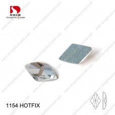 DZ-1154HF crystal color rhombus cut glass hotfix rhinestones for clothing