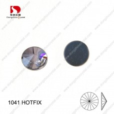 DZ-1041HF round rivoli crystal hotfix rhienstones for wedding dresses decoration