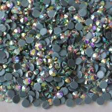 Round crystal AB color flat back crystal hotfix rhinestones for clothes decoration
