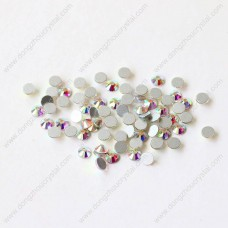 Crystal ab color flat back non hotfix rhinestones for clothes