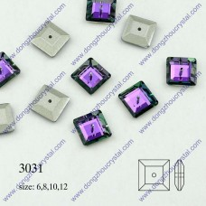 DZ 3031 square middle hole sew on stone