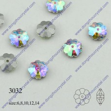 DZ 3032 crystal  flower shape with hole sew on stone