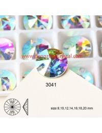 DZ 3041 16 mm  rivoli  shape crystal  flat back stone