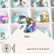 DZ 3041 16 mm  rivoli  shape crystal  flat back stone