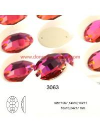DZ 3063 18X13 MM  oval shape crystal sew on stone