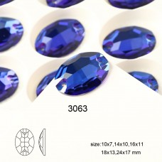 DZ 3063 10X7 MM  oval shape crystal sew on stone