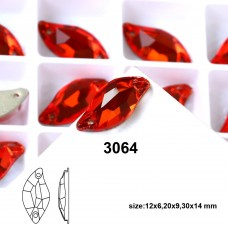 DZ 3064 leaf shape crystal sew on stone