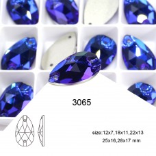 DZ 3065 12X7 MM teat drop crystal sew on stone
