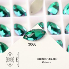 DZ 3066 12X6 MM Navette shape crystal sew on stone