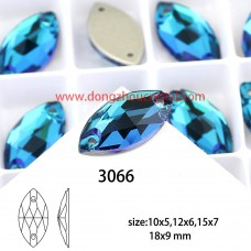 DZ 3066 18X9 MM Navette shape crystal sew on stone