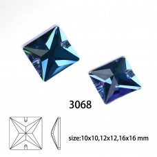 DZ 3068 square shape crystal sew on stone